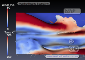 WeatherTheatre SceneOne 5-12-2013-12z, Europe, Top-down Planar View