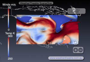 WeatherTheatre SceneOne 3-1-2014-12z, North America, Top Down View